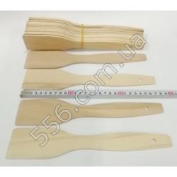 №1952 Лопатка деревянная тонкая с полосками (28 см -длина 4 мм-толщина)