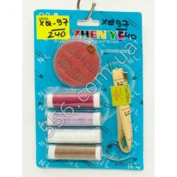 N901 Набор нитки, иголки, швейный метр ZHENYE (12 шт. в уп.)